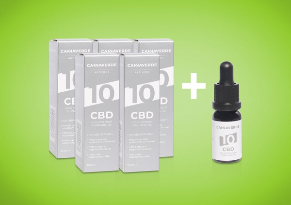 CANNAVERDE 10% Cannabis CBD Öl Tropfen Angebot