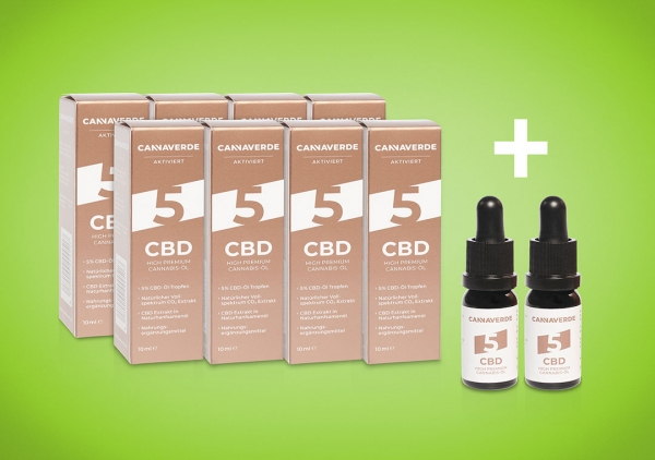 CANNAVERDE 5% Cannabis CBD Öl Tropfen Angebot